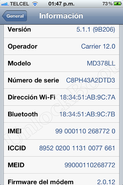 Unlock CDMA iPhone 4S Baseband 2.0.12