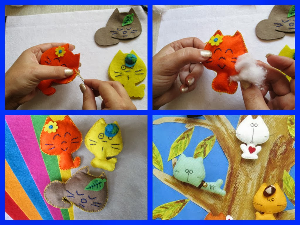 Котик из фетра своими руками фото 41