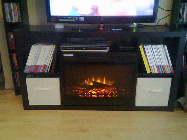 Photo0462 786483 IKEA Expedit 4x2 turned fireplace/media console