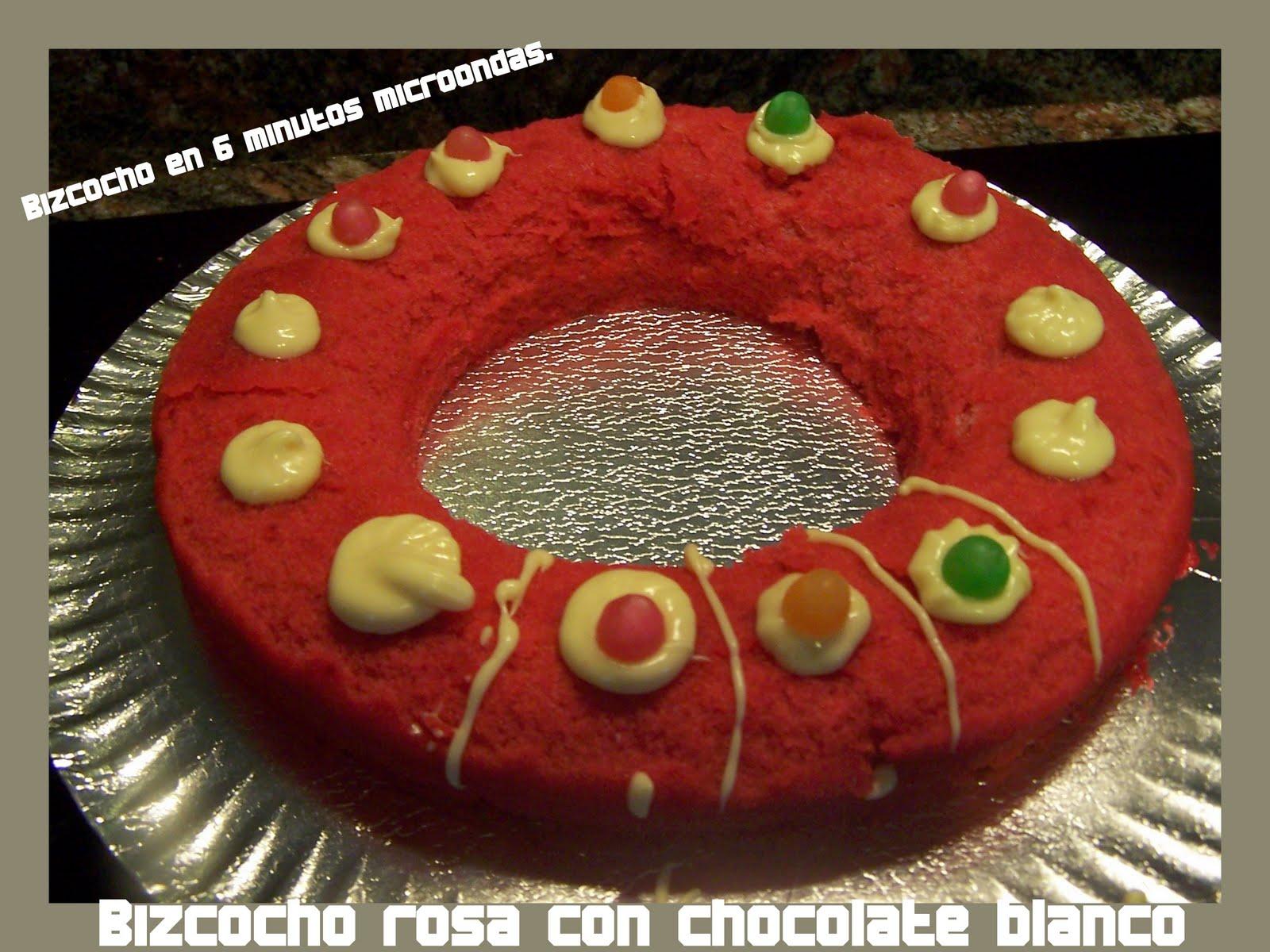 Dulce sabor de carmen artesana art cakes bizcocho sin - Bizcocho microondas 3 minutos ...