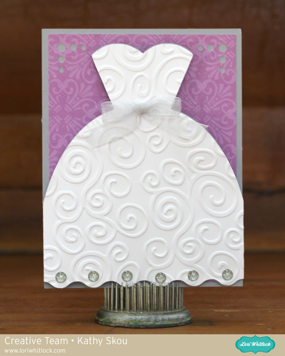 My happy place lori whitlock bridal shower card for Card for wedding shower