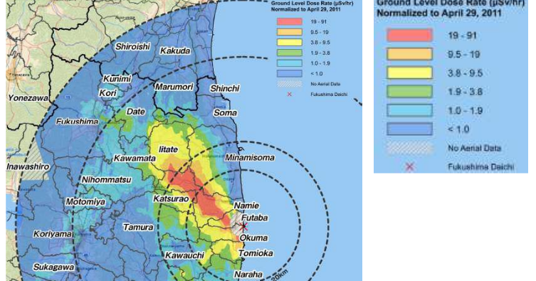 Creating A Sustainable Future Radiation Map Near Fukushima - Japan radiation map 2015