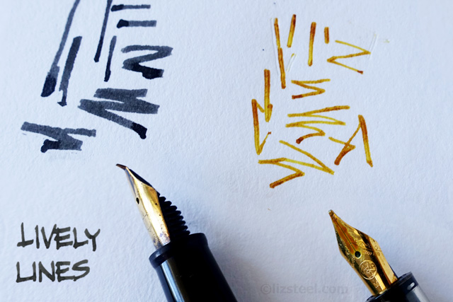 Fountain pen sketching part 2 why draw with a fountain Drawing with calligraphy pens