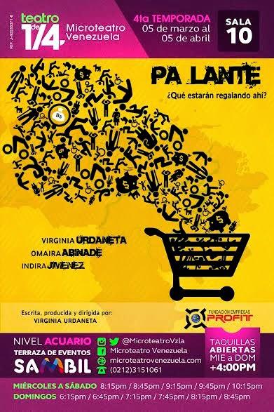 microteatro sambil caracas venezuela pa lante virginia urdaneta obras teatro