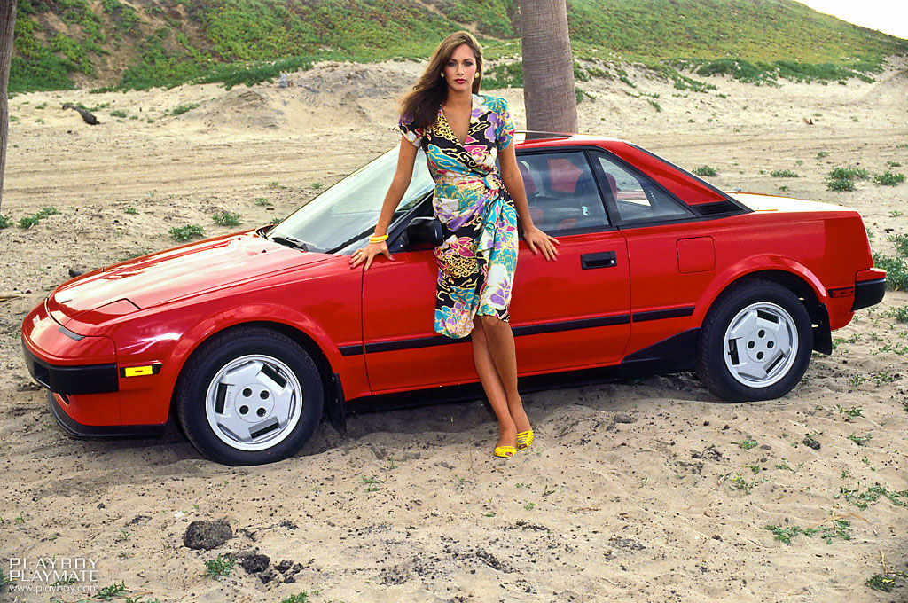 Playboy Playmates and car. Part III