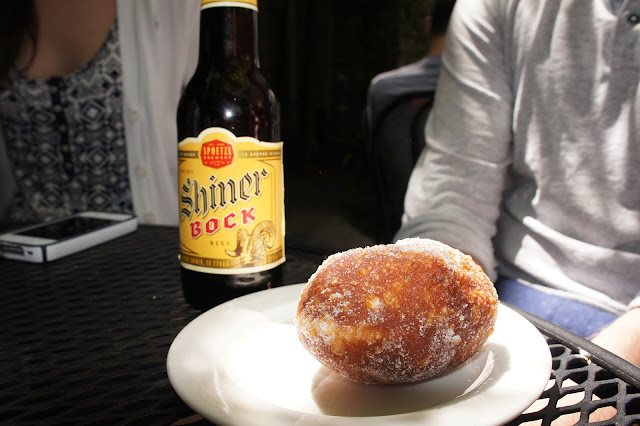 Donut and beer at Arlequin Cafe
