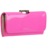 Rika Enamel Bobble Matinee Purse In Pink