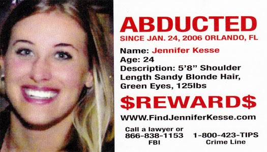 Jennifer Kesse Abducted January 24, 2006, Orlando, FL