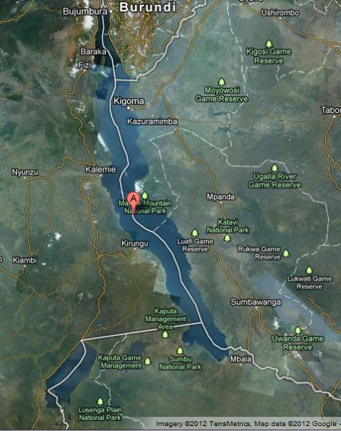 Lake Tanganyika, Lake Tanganyika map
