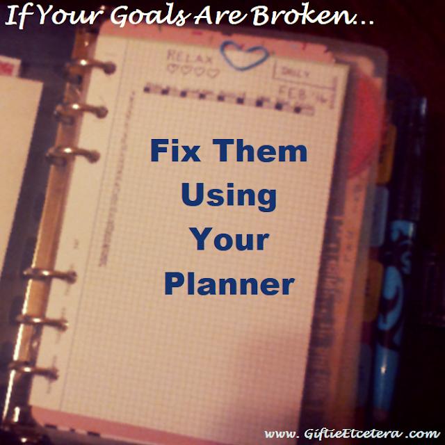 planner, goals, goals chart