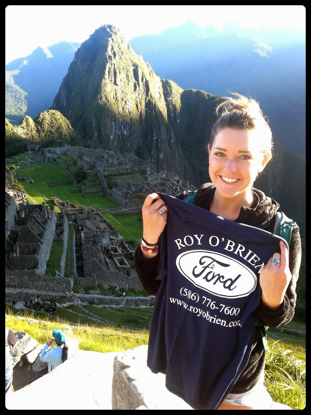 Tess at Machu Picchu