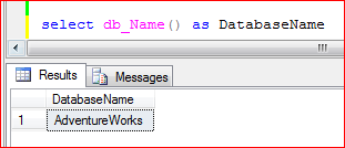 select db_Name() as DatabaseName - SQL Server