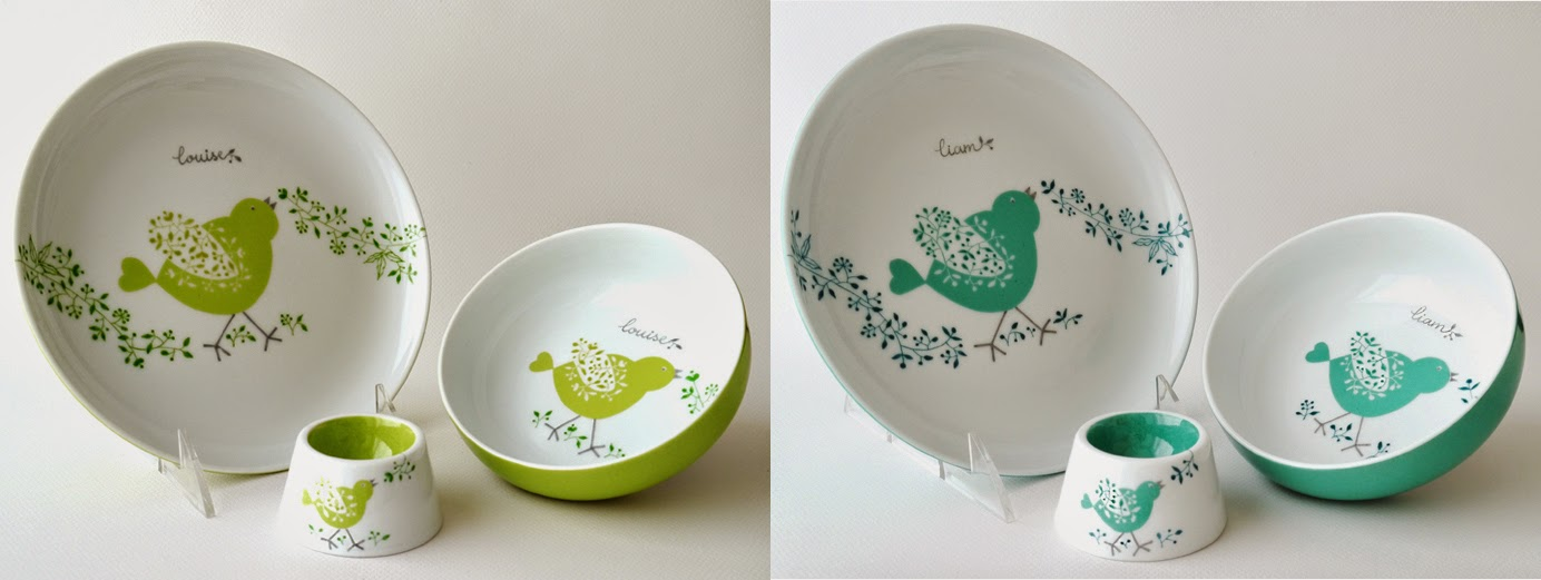 carolina leon firrell vaisselle personnalis e pour b b. Black Bedroom Furniture Sets. Home Design Ideas