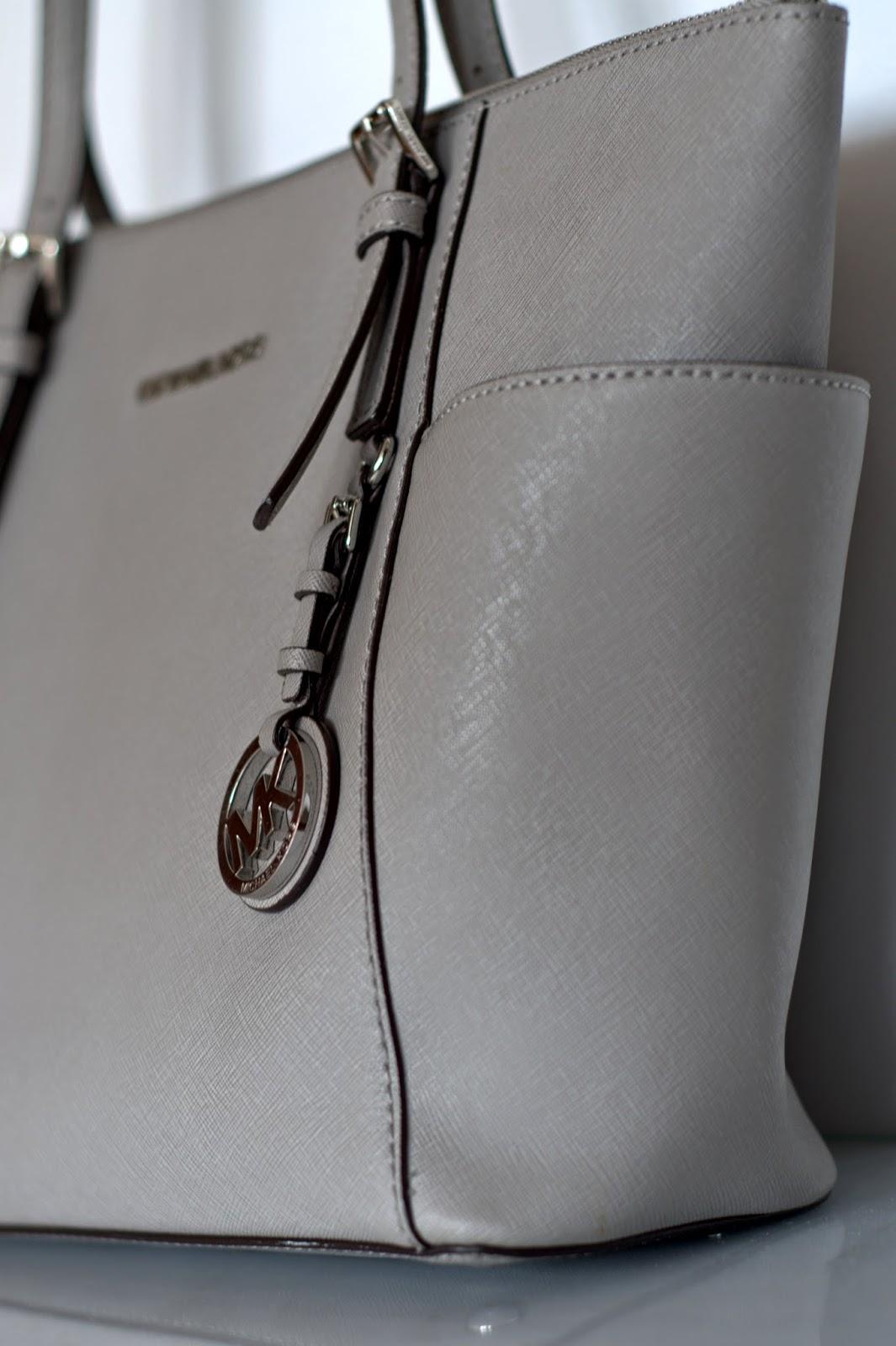 297ddce2b9535 szara torebka Michael Kors Jet Set