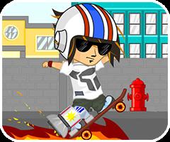 Trượt ván mạo hiểm, chơi game thể thao online