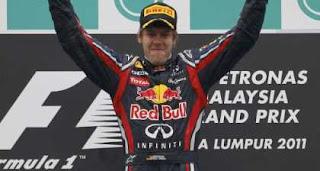 Malaysian Grand Prix 2011: Vettel Celebrates Perfect victory