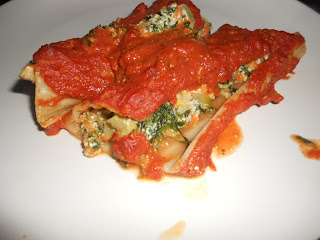 Vegetable Manicotti with Vodka Cream Sauce