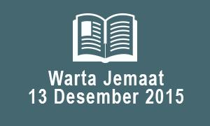 Warta Jemaat 13 Desember 2015