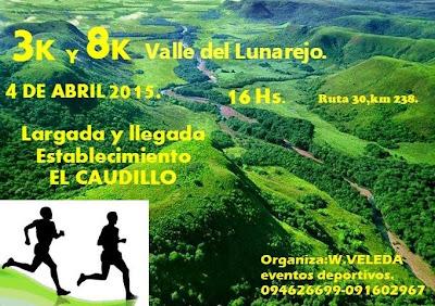 8k y 3k por el Valle del Lunarejo (Rivera, 04/abr/2015)