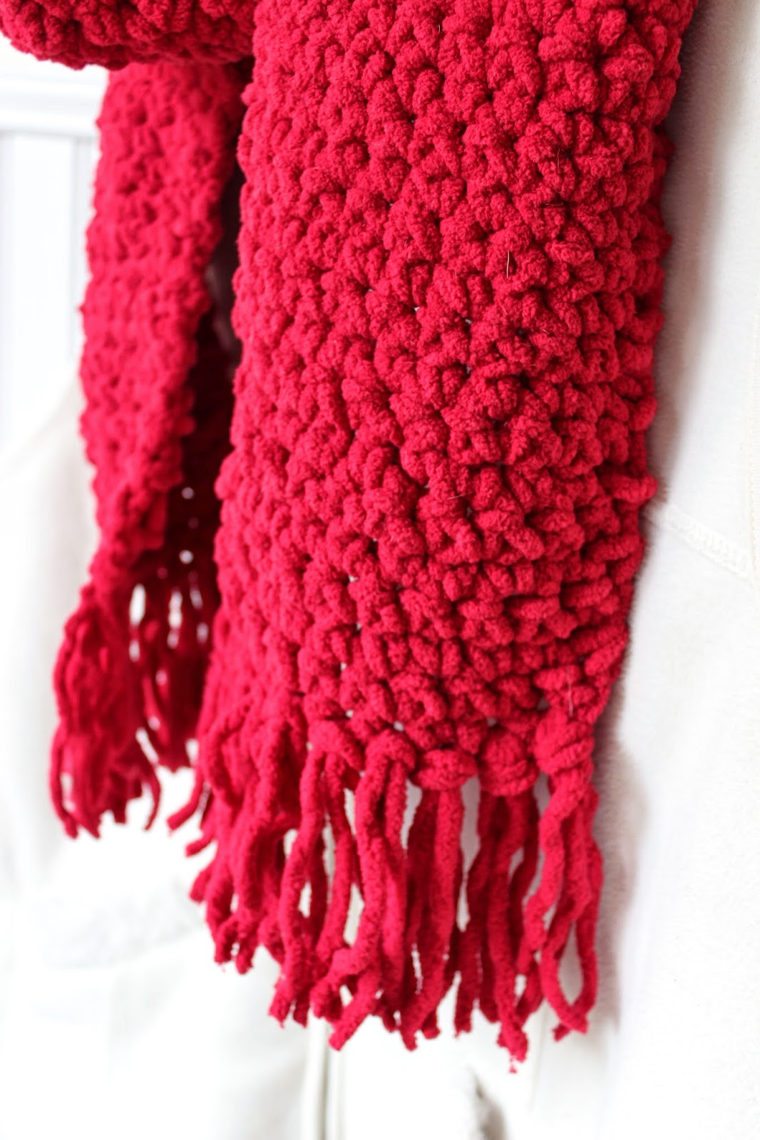 Knitting Thread Walmart : Happy at home cozy crocheted scarf