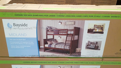 Your kids will enjoy a night's sleep on the Bayside Furnishings Midland Twin Over Full Bunk Bed