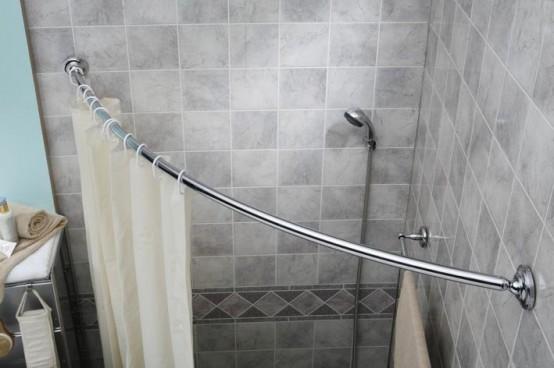 Comment faire pour installer une barre de douche incurvée.