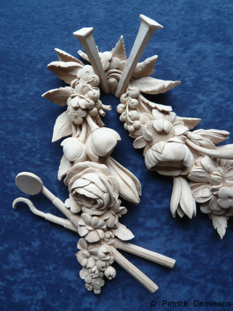 Ornamental woodcarver patrick damiaens festoon carved in