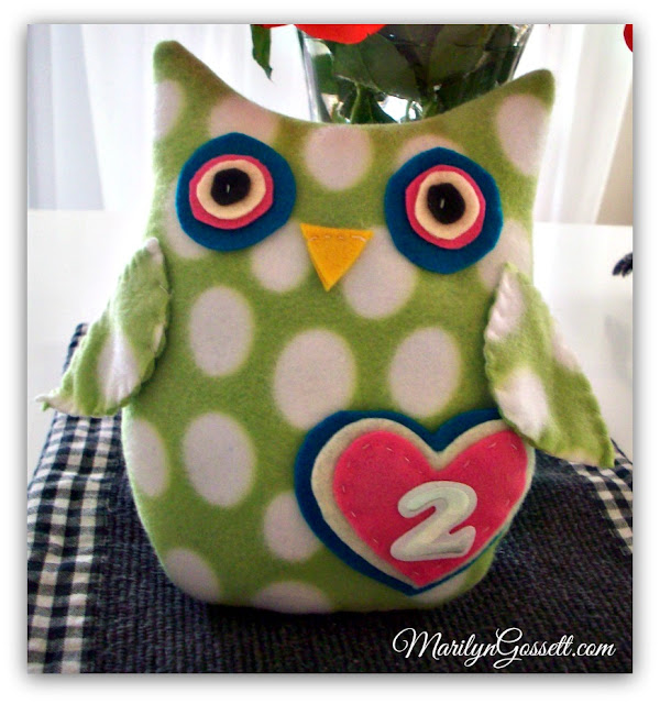 soft plush owl baby toy