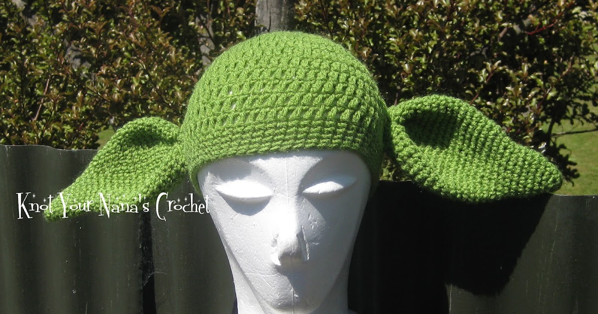Knot Your Nanas Crochet Crochet Yoda Hat