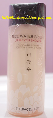 the face shop, rice water bright lip and eye remover