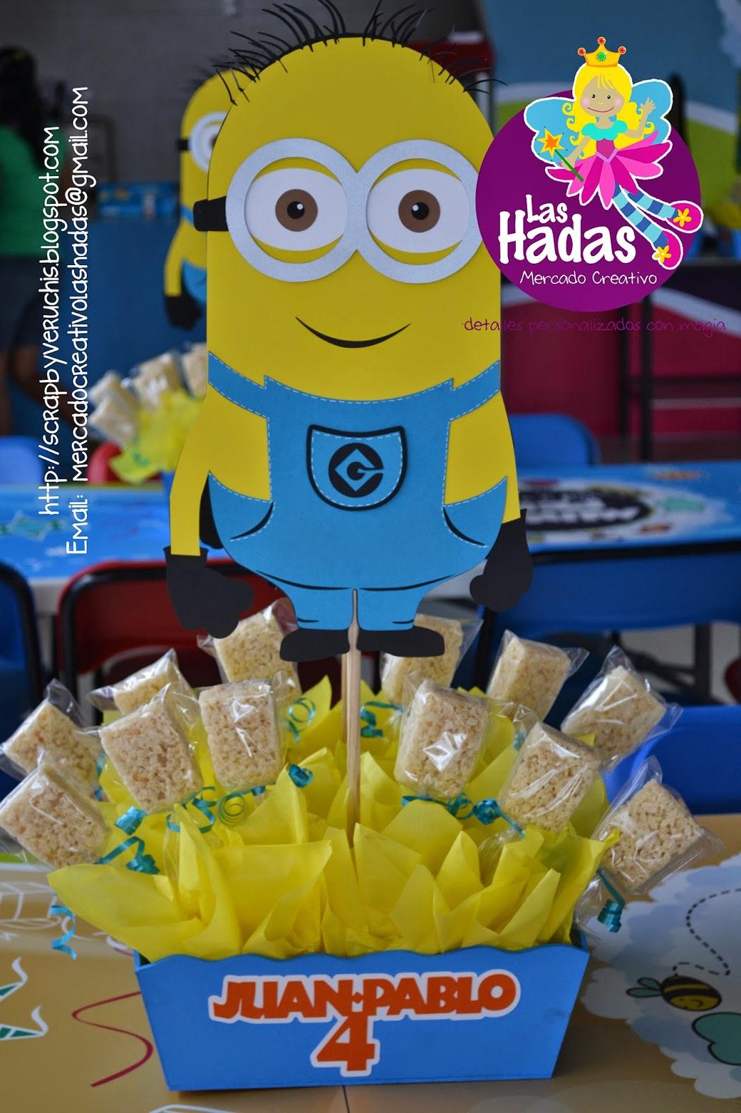 Minions centros de mesa dulceros recuerdos de fiesta - Centros de mesa con botellas ...