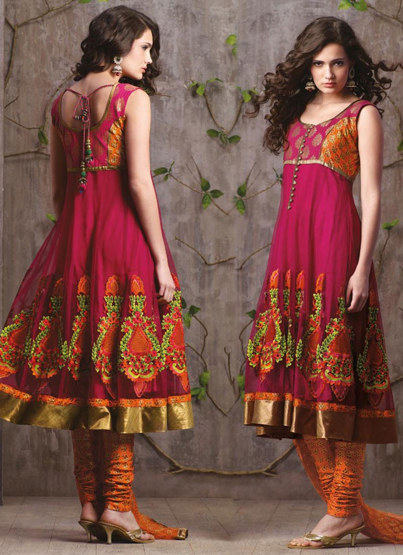 Indian Salwar Kameez 2012 New Trouser Kurti Fashion