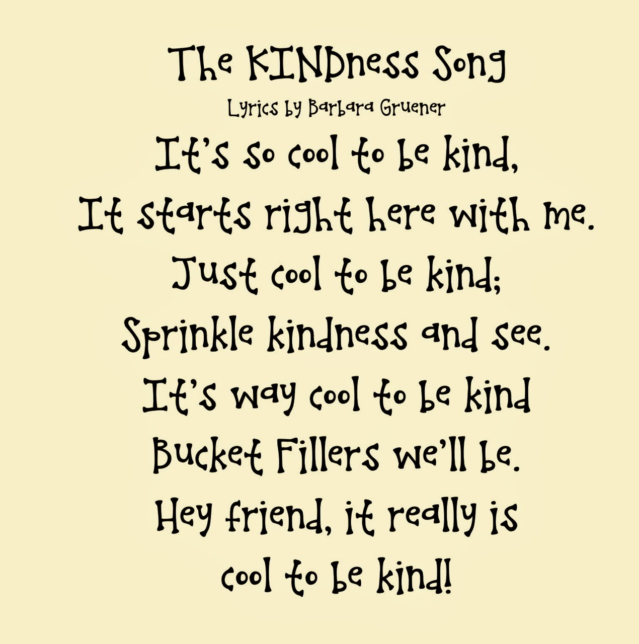 Popular songs about kindness