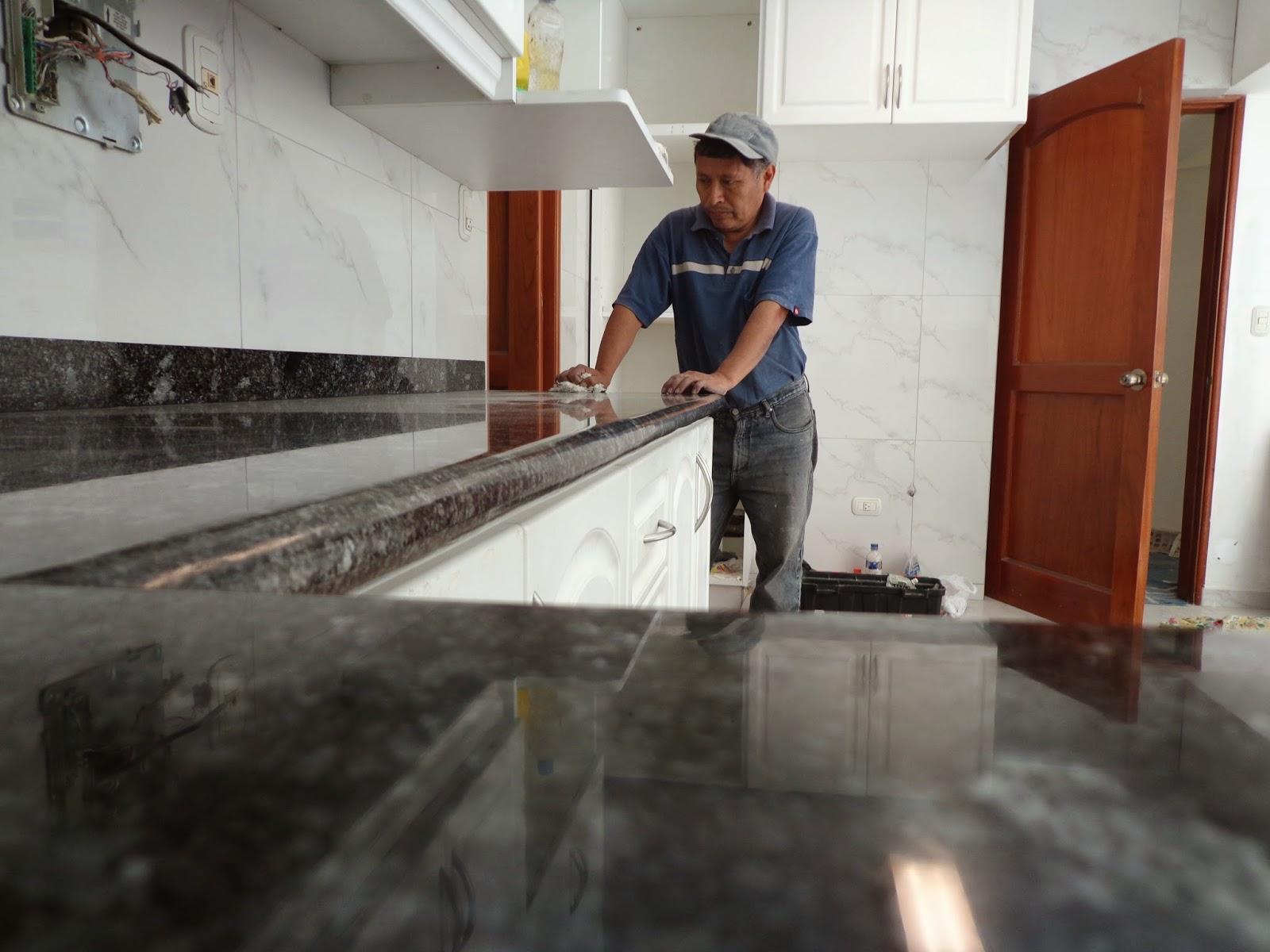 Encimeras mesas tablero cocina granito marmol piedra natural for Como pulir una mesa de marmol