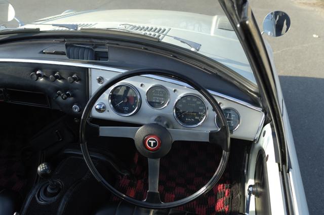 Toyota Sports 800 UP15 stary japoński sportowy samochód klasyk oldschool boxer トヨタ スポーツカー クラシックカー , wnętrze, interior