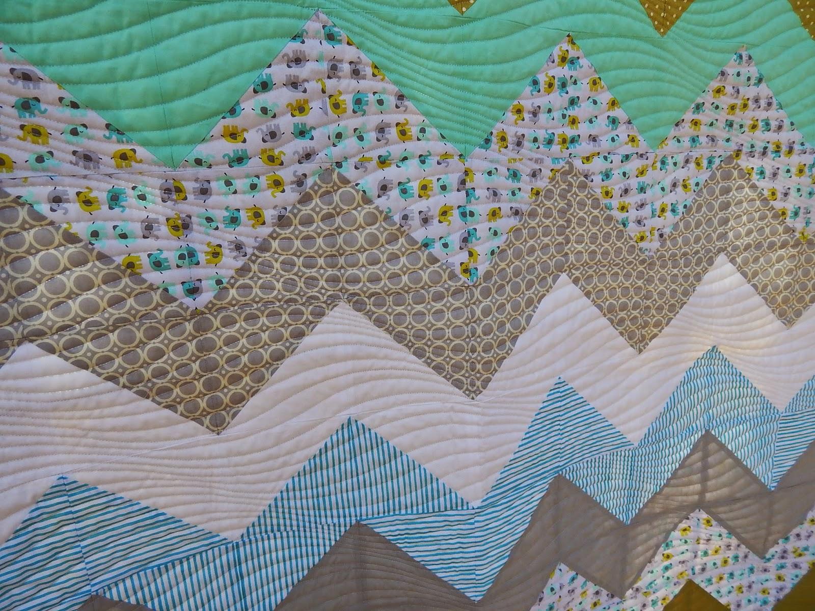 Chevron Baby Quilt Tutorial | Triangles on a Roll : chevron baby quilt - Adamdwight.com