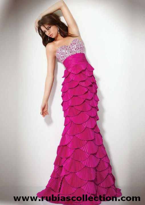 Awesome Hot Pink Fish Tail Dress Specially Designed For Parties And