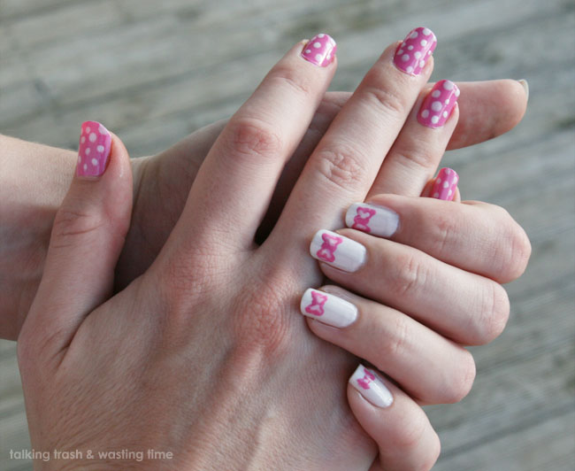 adorable bow nail art how to now thats peachy