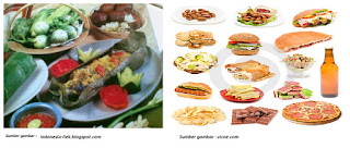 Dulu orang suka makan makanan tradisional dan jarang makan makan siap