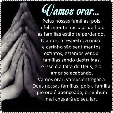 Vamos orar pelas famílias!