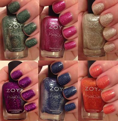 Zoya, Zoya Fall 2013 PixieDust Nail Polish Collection, textured nail polish, matte nail polish, nail, nails, nail polish, polish, lacquer, nail lacquer, varnish, nail varnish, manicure, Zoya Arabella, Zoya Carter, Zoya Chita, Zoya Sunshine, Zoya Tomoko, Zoya Dhara