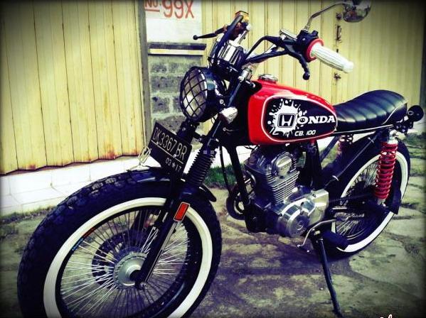 Modif Honda CB 100 Retro