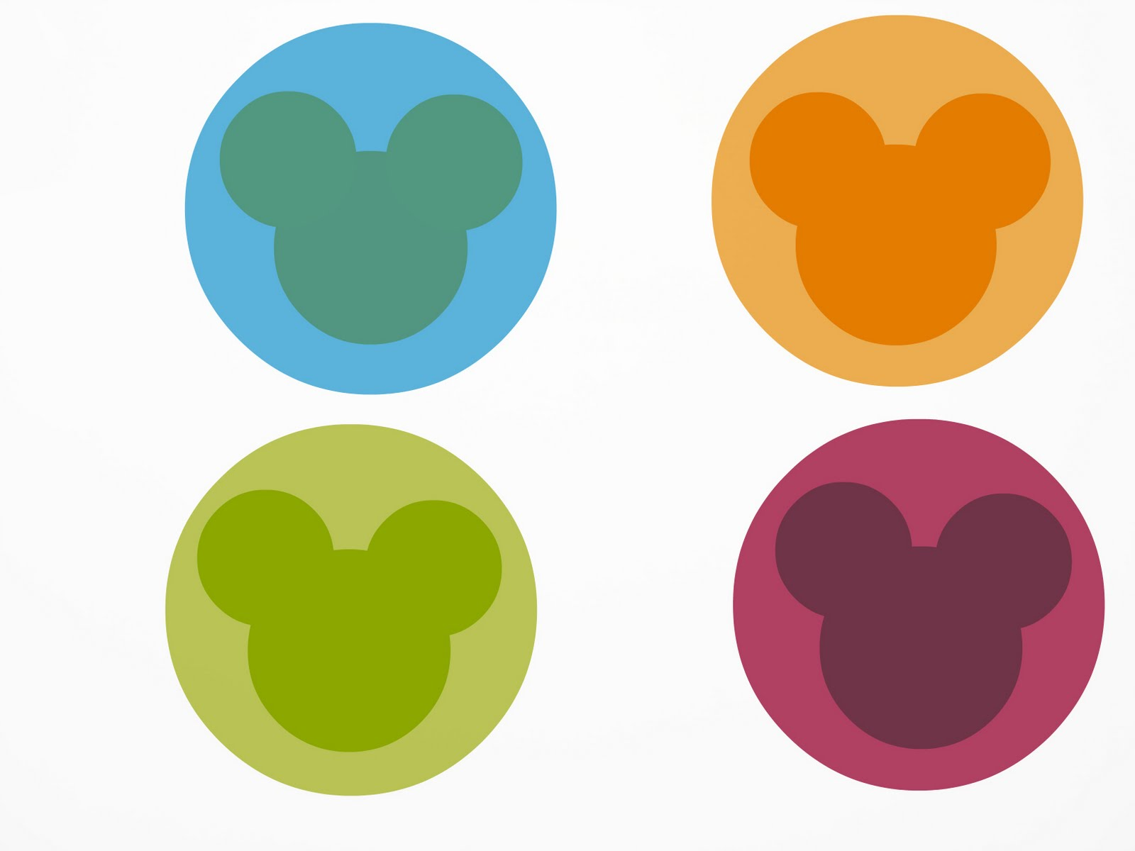 Silueta Mickey Mouse para imprimir - Imagui