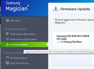 aggiornare firmware disco ssd