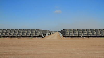 One of many solar fields. This one doesn't have panels yet.