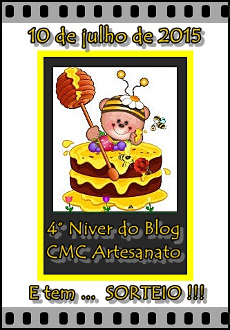 "4° NIVER do blog  ""CMC Artesanato"""