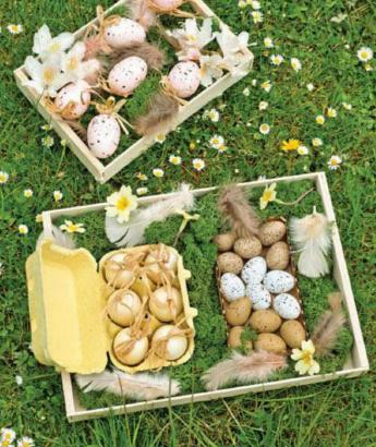 Easter crafts and gifts ideas: Create a crate tray