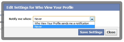 Block Notification Who View Your Profile friends request