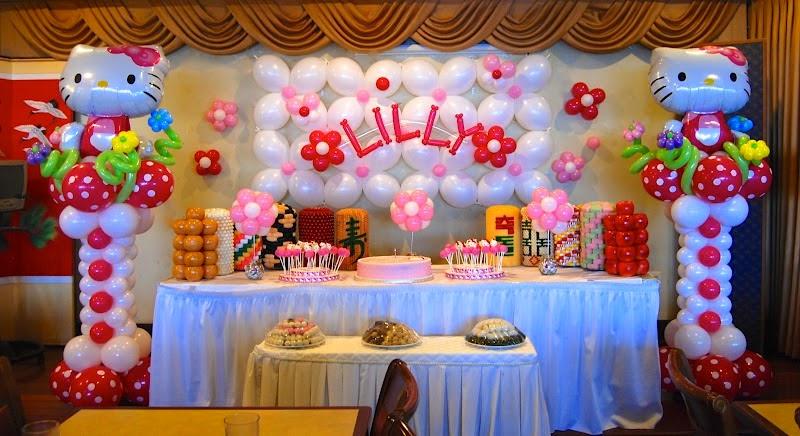Balon dekorasi ulang tahun tema hello kitty terbaru
