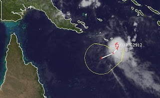 Tropischer Sturm 21 (Twentyone) voraussichtlich kurzlebig und nach Australien, Mitchell, Australische Zyklonsaison, Australien, aktuell, Satellitenbild Satellitenbilder, Juni, 2012,